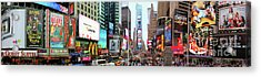 New York Times Square Panorama Acrylic Print