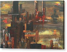 New York Tragedy Acrylic Print by Miroslaw  Chelchowski