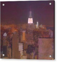New York View Top Of The Rock  Acrylic Print by Dan Sproul