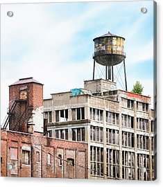 New York Water Towers 18 - Greenpoint Water Tower Acrylic Print by Gary Heller