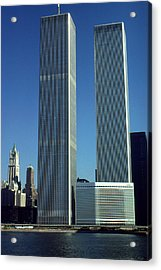 New York World Trade Center Before 911 - Architecture Acrylic Print by Art America Gallery Peter Potter