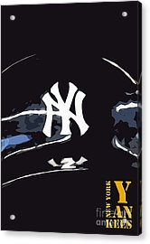 New York Yankees Black Acrylic Print