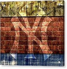 New York Yankees Brick 2 Acrylic Print