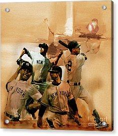 New York Yankees  Acrylic Print by Gull G