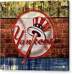 New York Yankees Top Hat Brick 2 Acrylic Print