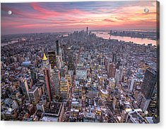 New York Acrylic Print by Zev Steinhardt