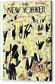 New Yorker January 03 1953 Acrylic Print by Ludwig Bemelmans