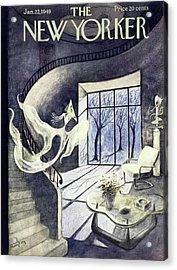 New Yorker Magazine Cover Of A Cubist Ghost Acrylic Print