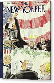 New Yorker Magazine Cover Of A Politician Giving Acrylic Print