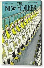 New Yorker Magazine Cover Of Chorus Girls Acrylic Print