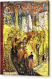 New Yorker October 09 1954 Acrylic Print by Ludwig Bemelmans