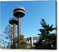 New York's 1964 World's Fair Observation Towers Acrylic Print