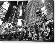 New York's Finest Acrylic Print by Robert Lacy