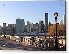 New York's Skyline - A View From Gantry Plaza State Park Acrylic Print