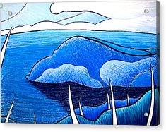 New Zealand Bay Acrylic Print by Jason Charles Allen