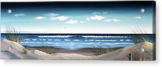 New Zealand Brighton Beach By Linelle Stacey Acrylic Print by Linelle Stacey
