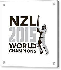 New Zealand Nz Cricket 2015 World Champions Acrylic Print