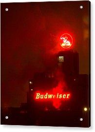 Newark Budweiser Acrylic Print