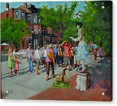 Newbery St. Boston Acrylic Print by Janet McGrath