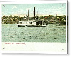 Newburgh Steamers Ferrys And River - 24 Acrylic Print