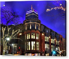 Acrylic Print featuring the photograph Newbury Street And The Prudential - Back Bay - Boston by Joann Vitali