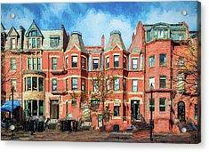 Newbury Street In Boston Acrylic Print
