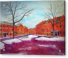 Newburyport Ma In Winter Acrylic Print