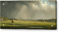 Newburyport Meadows Acrylic Print by Martin Heade
