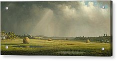 Newburyport Meadows  Acrylic Print by Martin Johnson Heade