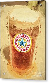Newcastle Brown Ale Digital Artwork Acrylic Print