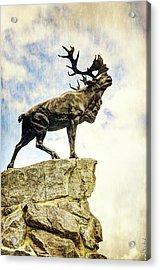 Newfoundland Caribou At Beaumont-hamel - Vintage Version Acrylic Print by Weston Westmoreland