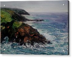 Newlyn Cliffs 2 Acrylic Print by Genevieve Brown