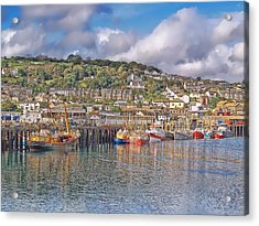 Newlyn Harbour Cornwall 2 Acrylic Print