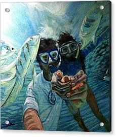 Honeymoon Selfie Acrylic Print