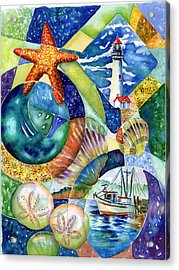 Newport Acrylic Print by Ann  Nicholson