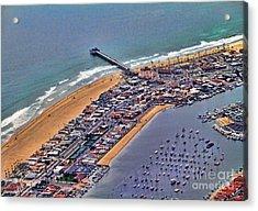 Newport Beach Flyover Acrylic Print by Clare VanderVeen