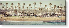 Newport Beach Skyline Vintage High Resolution Panorama Photo Acrylic Print by Paul Velgos