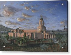 Newport Beach Temple Acrylic Print by Jeff Brimley