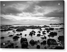 Newport Beach Tide Pools Black And White Photo Acrylic Print by Paul Velgos
