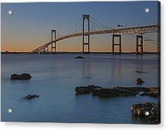 Newport Bridge Acrylic Print by Juergen Roth