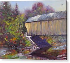 Newport Covered Bridge Acrylic Print