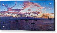Newport Lights Acrylic Print by Bruce Dumas