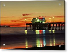 Newport Pier After Sunset Acrylic Print