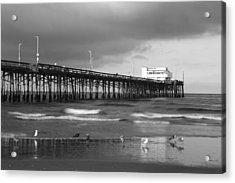 Newport Pier Acrylic Print by Eric Foltz