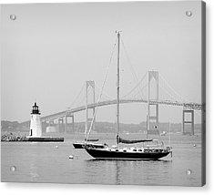 Newport, Rhode Island Serene Harbor Scene Acrylic Print