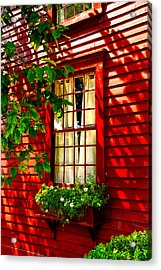 Newport Window Acrylic Print by Rick Bragan