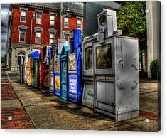 News Stands Acrylic Print by Christopher Lugenbeal