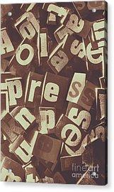 Newsprint Journalism Acrylic Print
