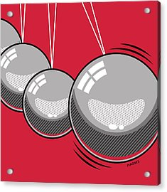 Acrylic Print featuring the digital art Newton's Cradle by Ron Magnes
