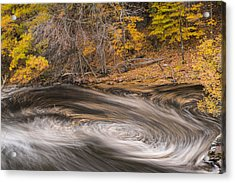Newton Upper Falls Dual Whirlpool Newton Ma Acrylic Print by Toby McGuire
